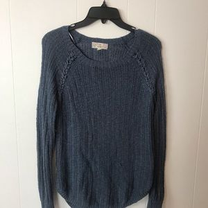 Pink Republic Blue Braid Sweater